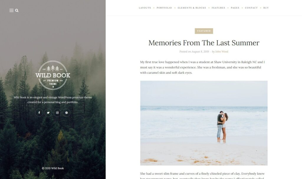 Wild Book – Premium WordPress Theme