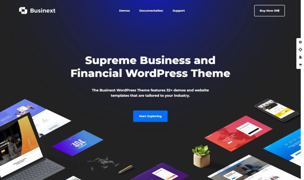 Businext – Supreme Business and Financial WordPress Theme