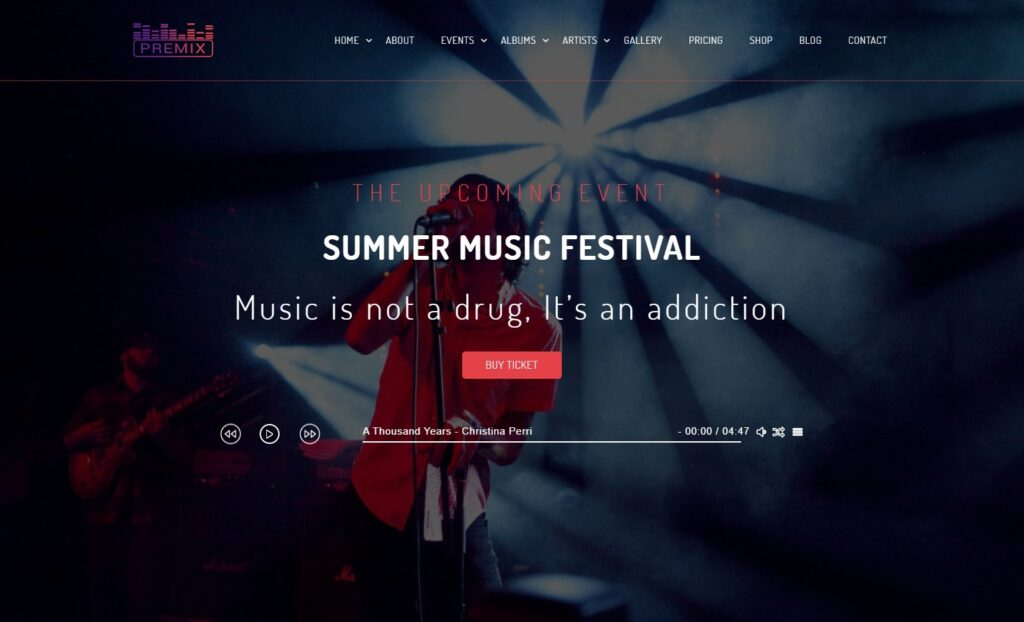 Premix – Music event theme