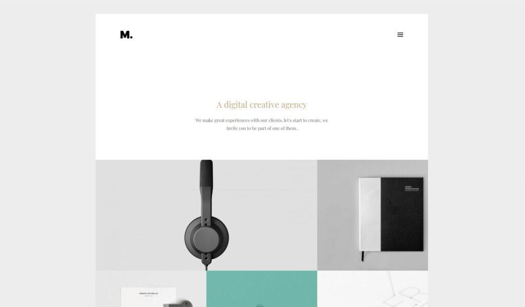 Margo Creative Portfolio WordPress Theme Preview ThemeForest