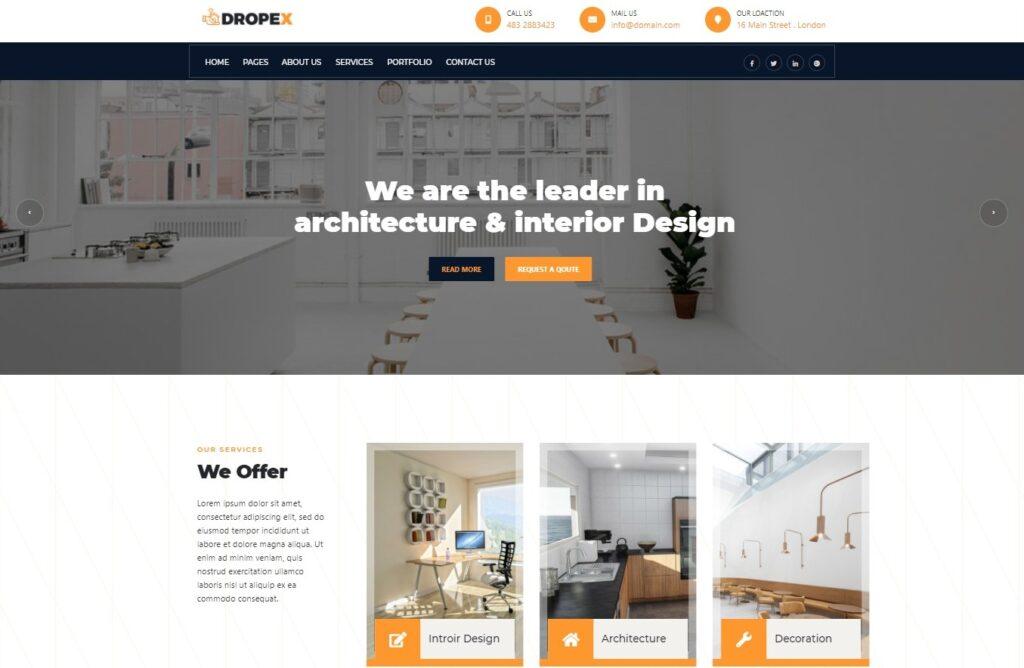 Dropex Architecture WordPress Theme