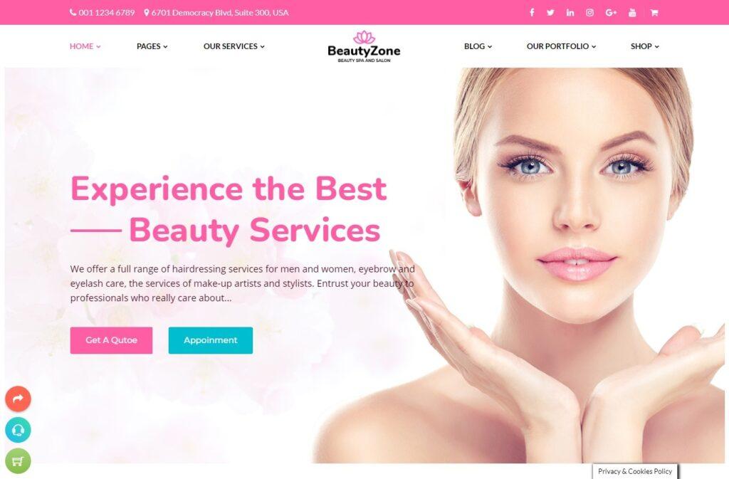 BeautyZone – Beauty Spa Salon WordPress Theme