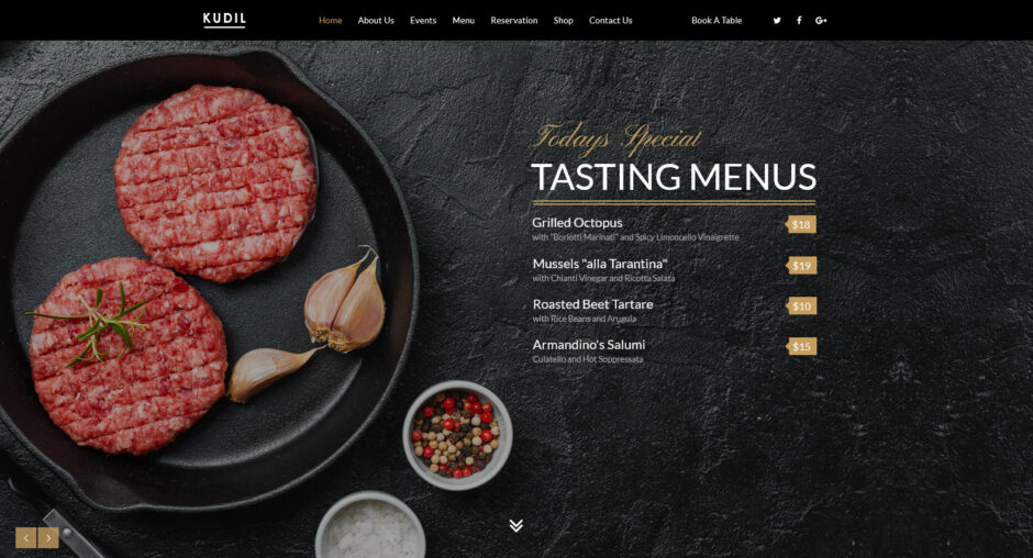 Kudil Restaurant Food Delivery Preview ThemeForest
