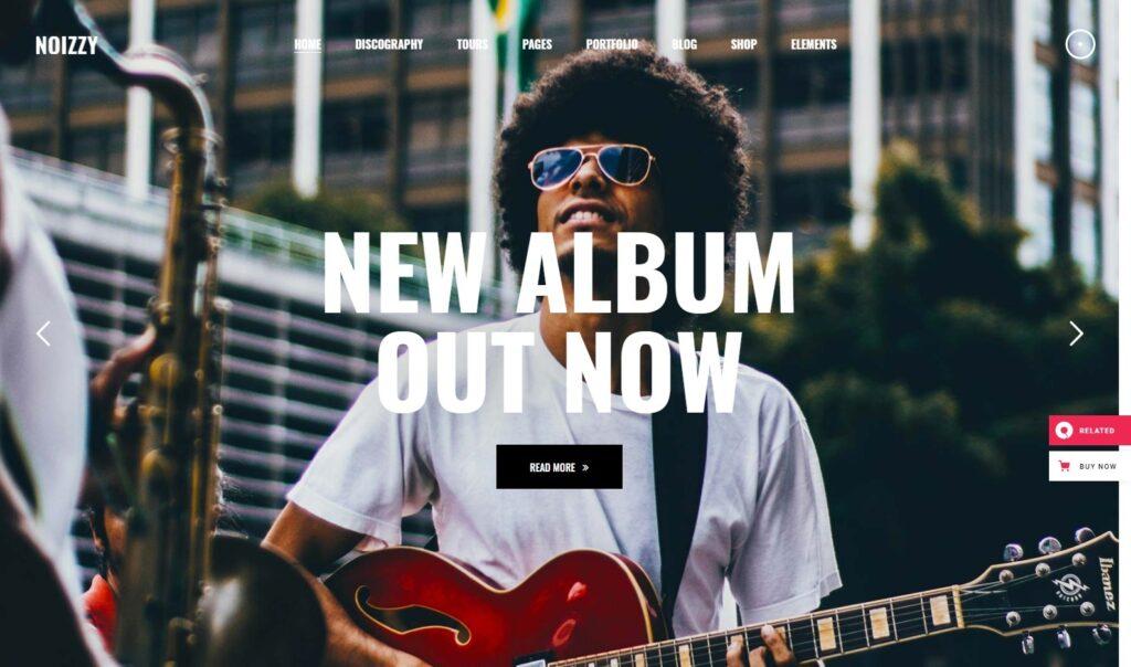 Noizzy – Noizzy – Music Band WordPress Theme