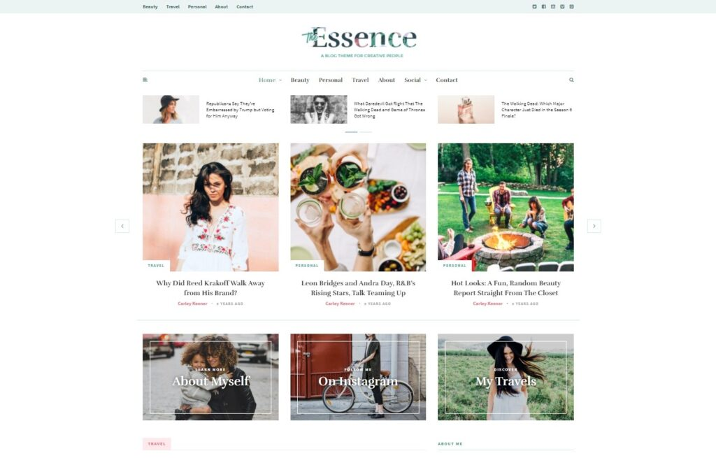 The Essence A Responsive WordPress Blog Theme Preview ThemeForest