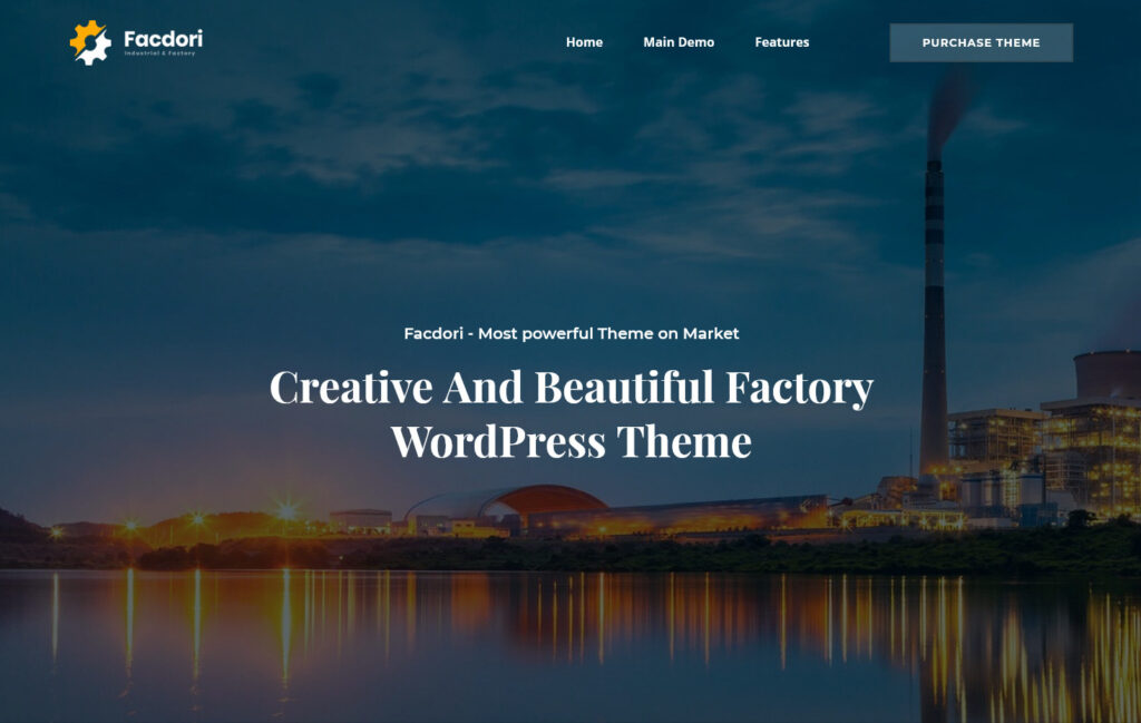 Facdori Business Theme for Industry and Manufacturing