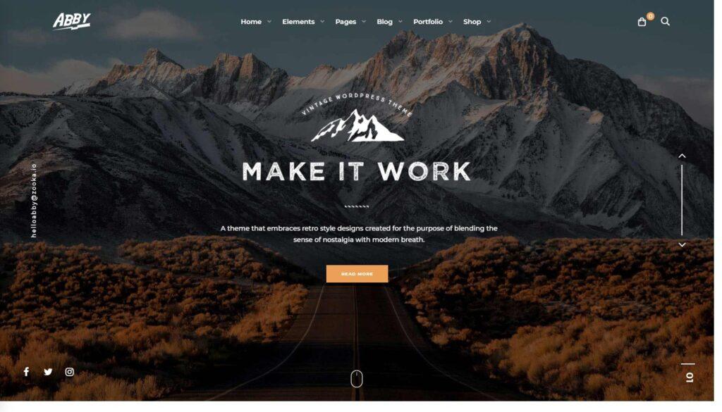 Abby WordPress Theme with Vintage Feel