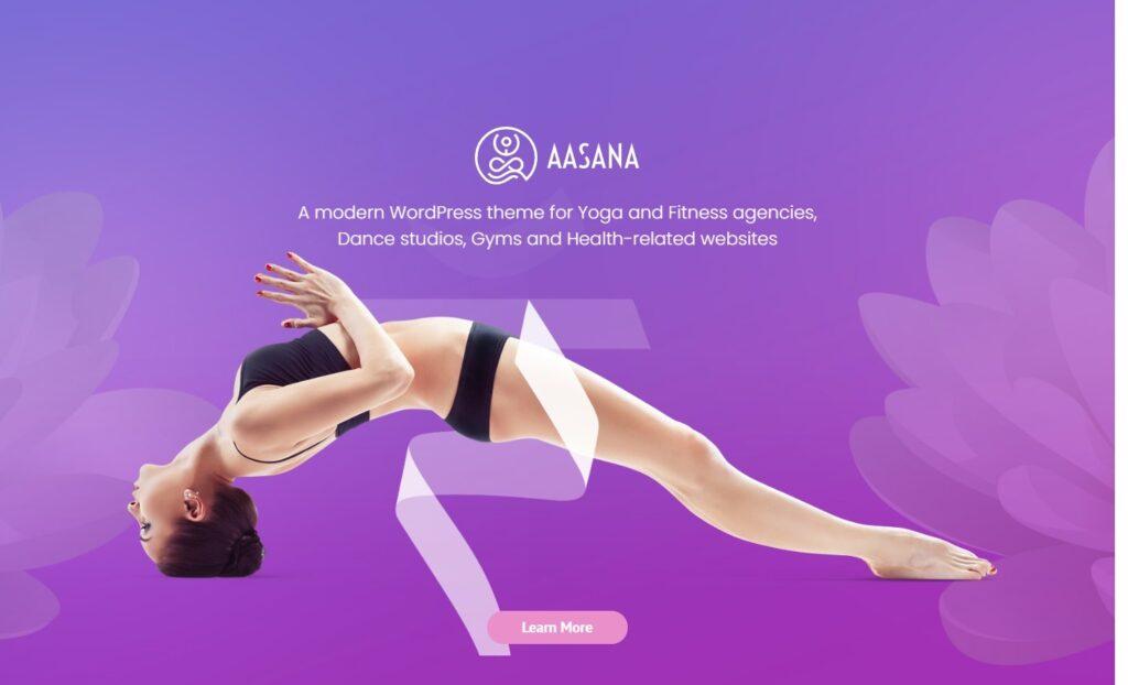 Aasana Multipage Yoga Studio Theme