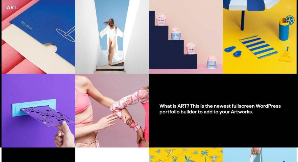Art Portfolio Clean Modern Attractive Portfolio Theme for WordPress