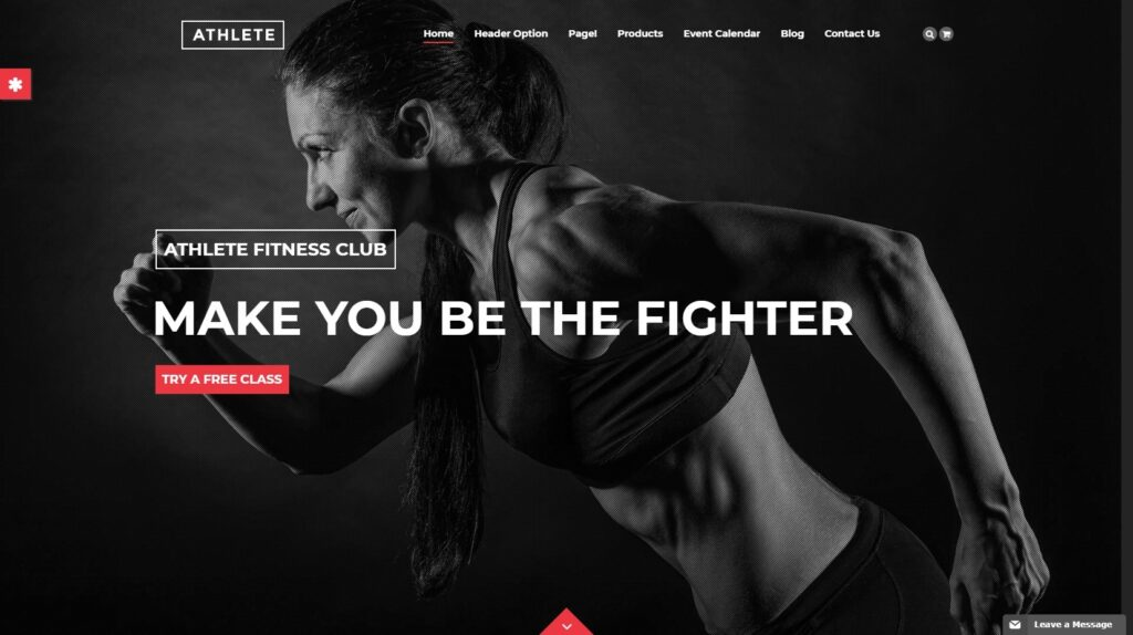 Athlete WordPress Theme for Fitness Centers