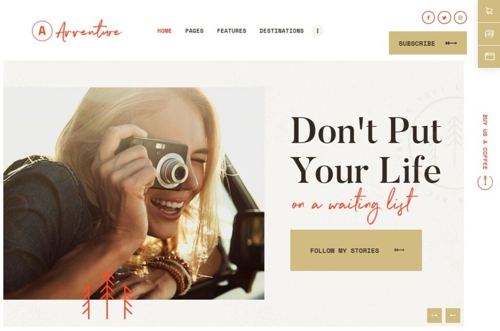Avventure Travel Storytelling and Lifestyle Blog Theme