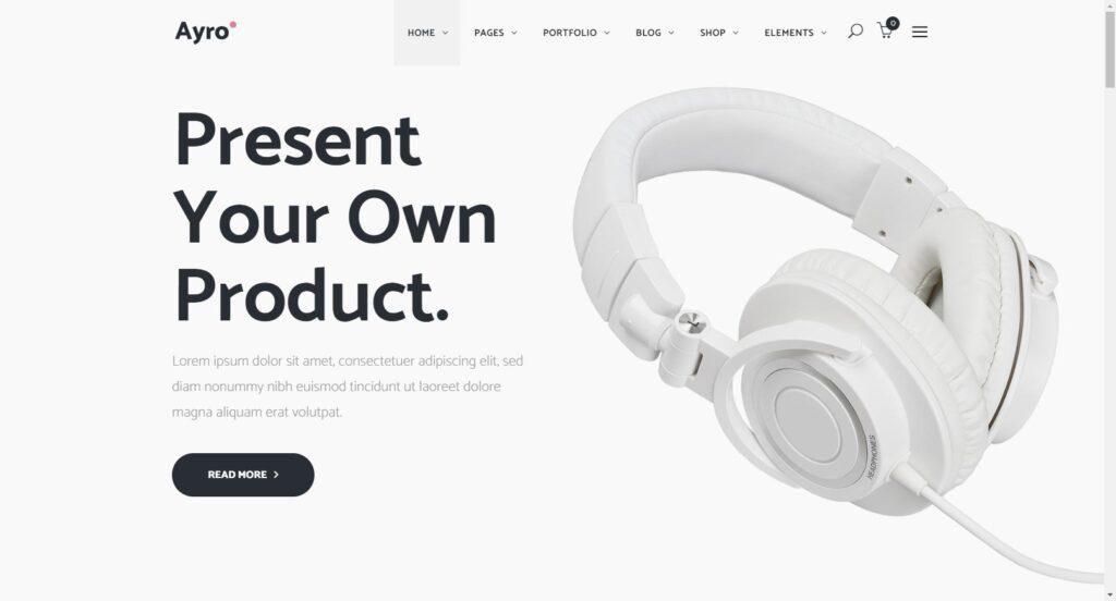Ayro WordPress Theme for Startup Businesses