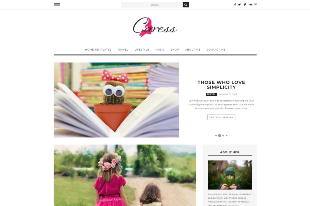 Caress A Comprehensive WordPress Blog Theme