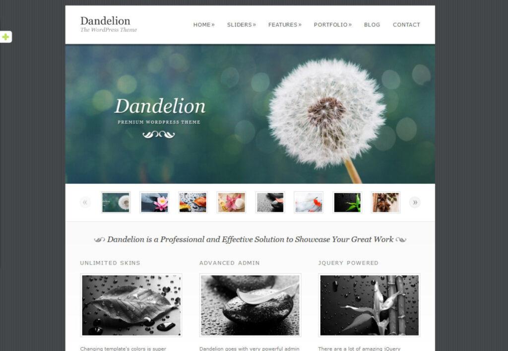 Dandelion Old School Typography WP Theme