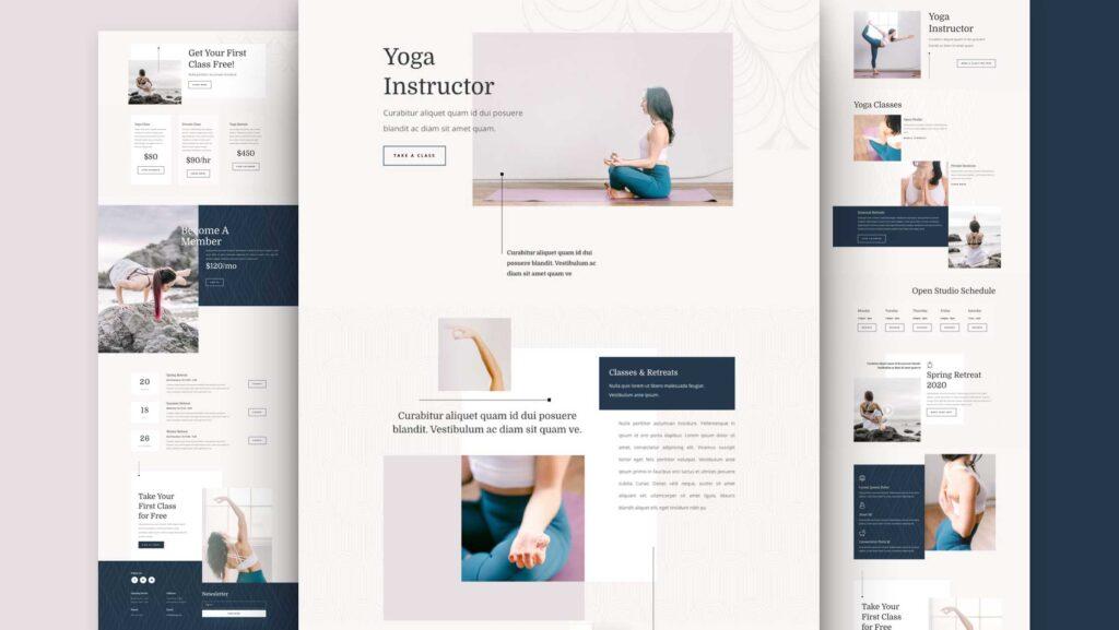 Divi Yoga Instructor WordPress Theme