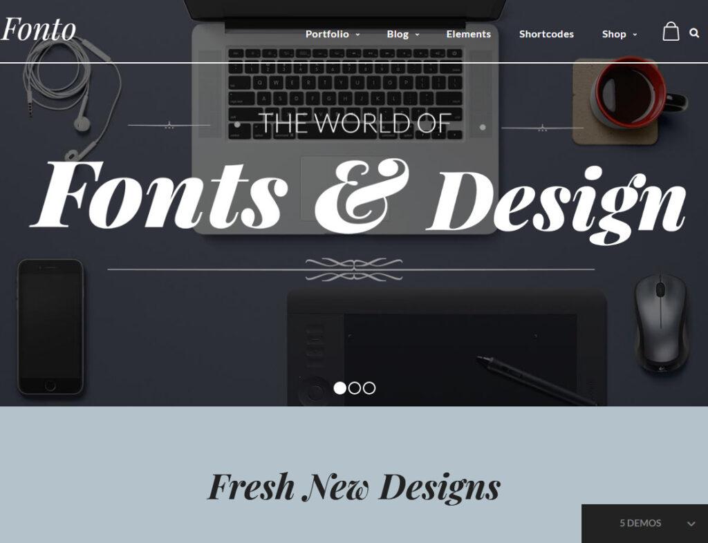 Fonto Typography WordPress Theme