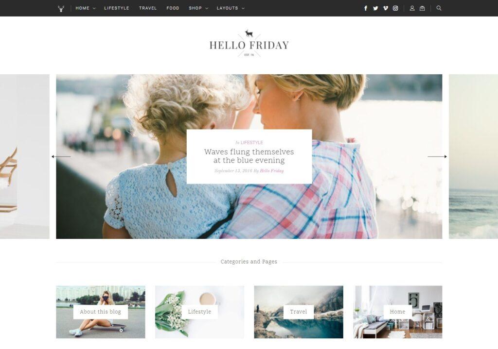 Hello Friday Lifestyle Blog WordPress Theme