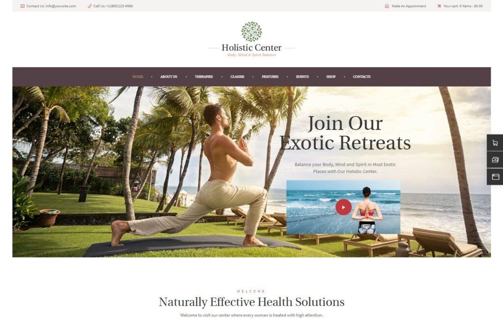 Holistic Center Yoga and Wellness Center Theme for WordPress