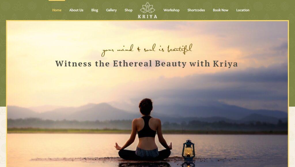 Kriya wordpress theme for yoga meditation