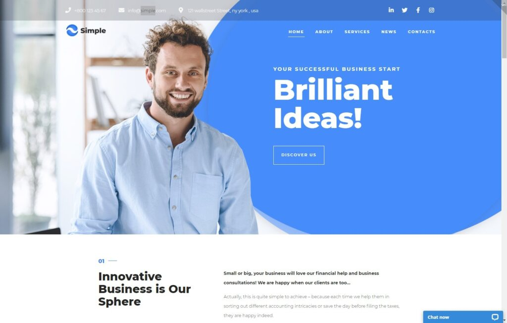 Monstroid2 Simple WordPress Business and Consulting Theme
