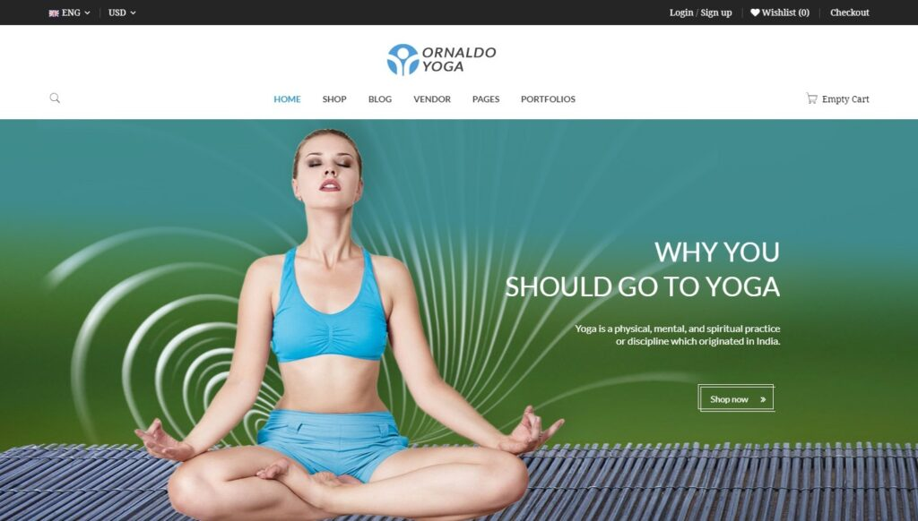 Ornaldo Sports and Yoga WordPress Theme