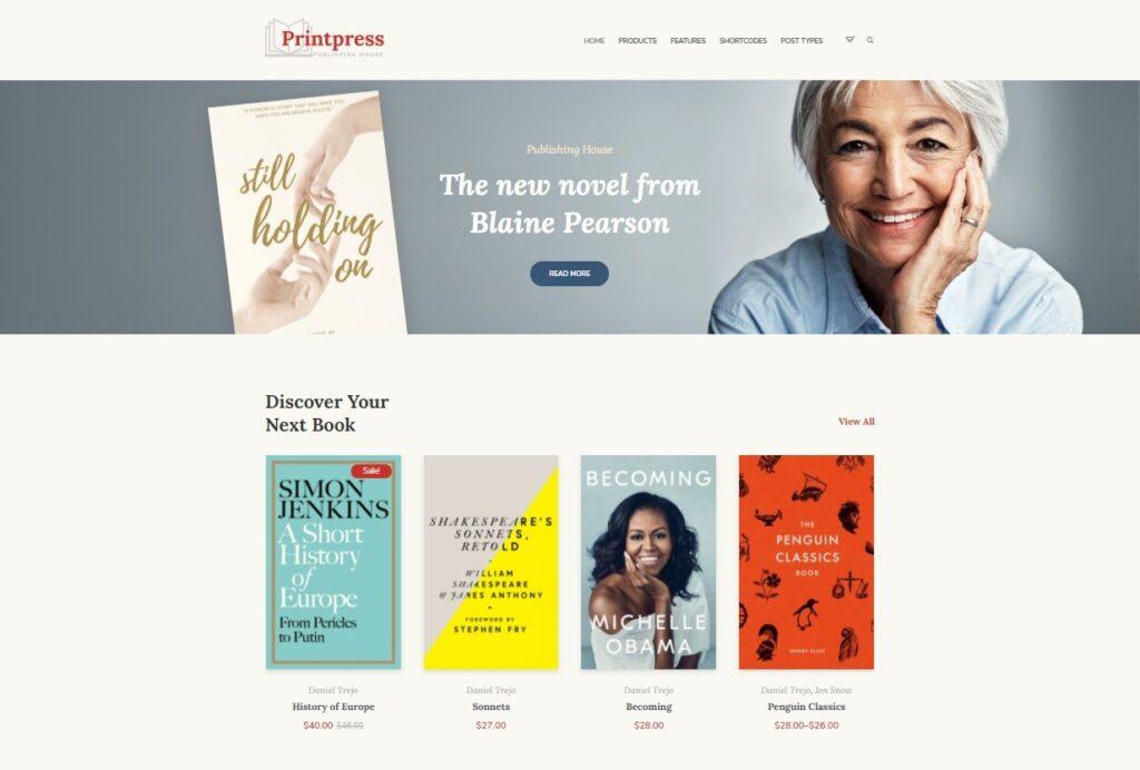 Printpress WordPress Theme for Writers