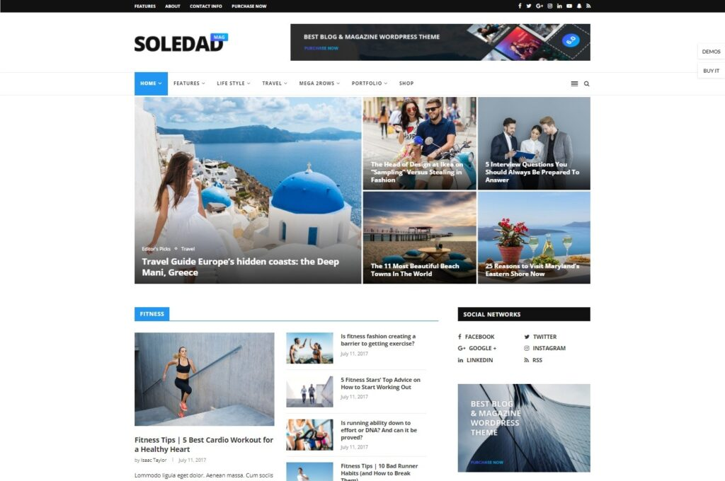 Soledad WordPress Theme for Magazines