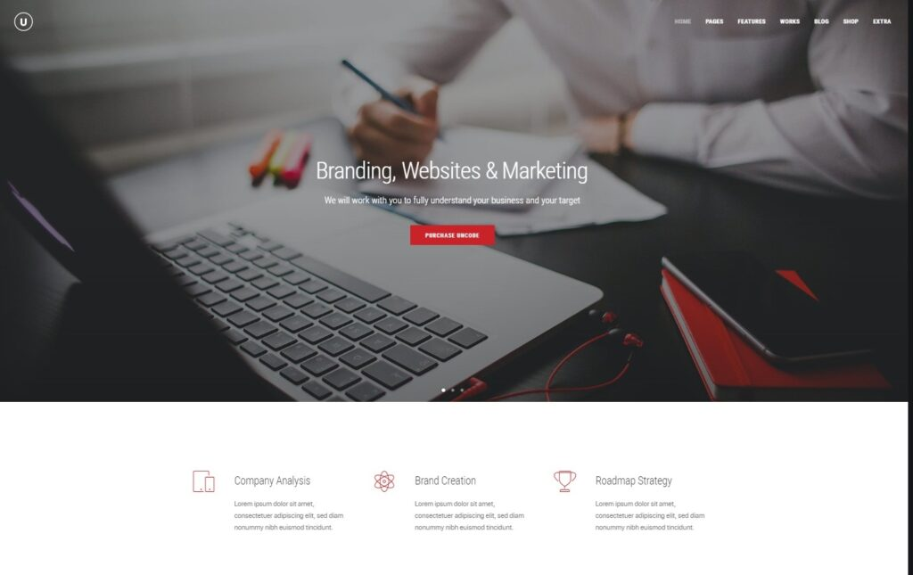 Uncode WordPress Classic Business Theme