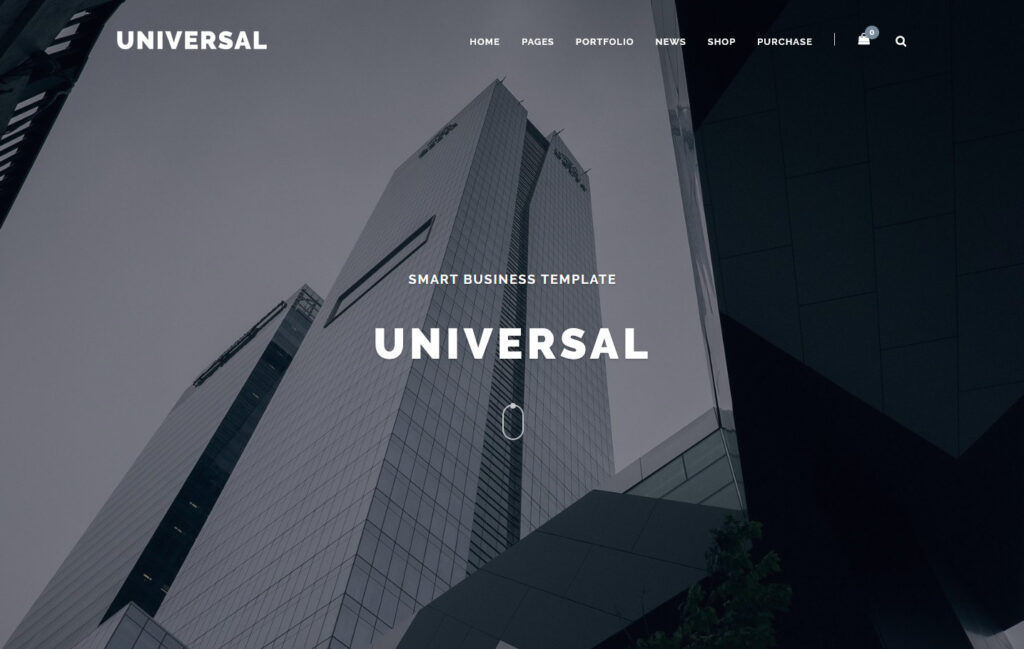 Universal Smart Multi Purpose WordPress Theme