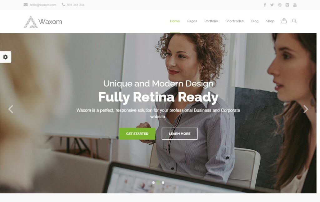 Waxom WordPress Theme for Premium Business Websites