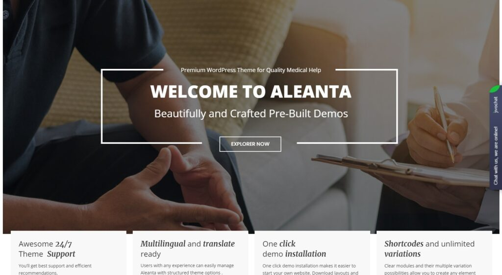 Welcome to Aleanta – Multipurpose Medical Theme