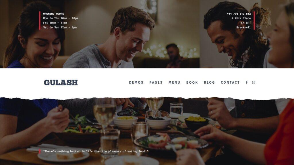 Gulash Powerful Fast Food Restaurant and Coffee Shop Theme