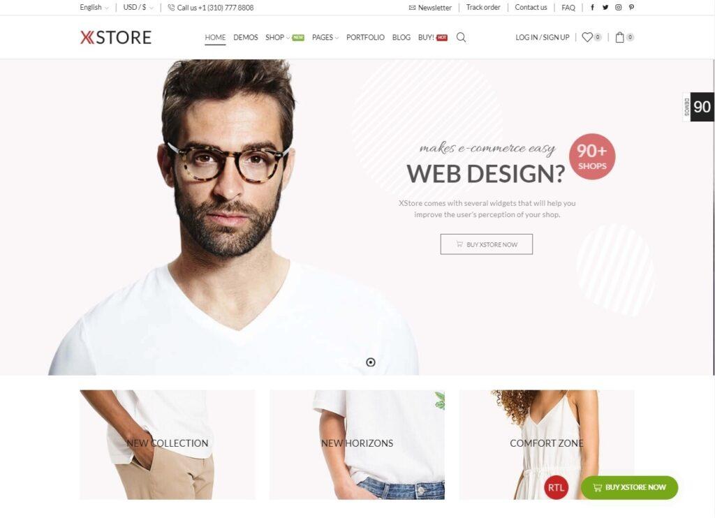XStore Minimal Style WooCommerce Theme
