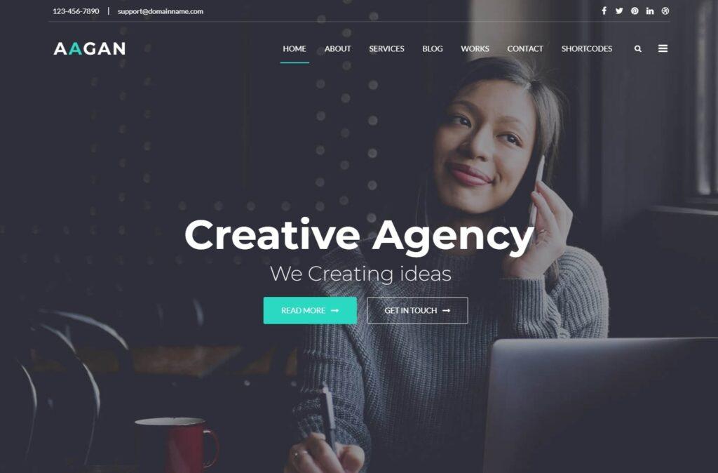 Aagan Digital Agency WordPress Theme