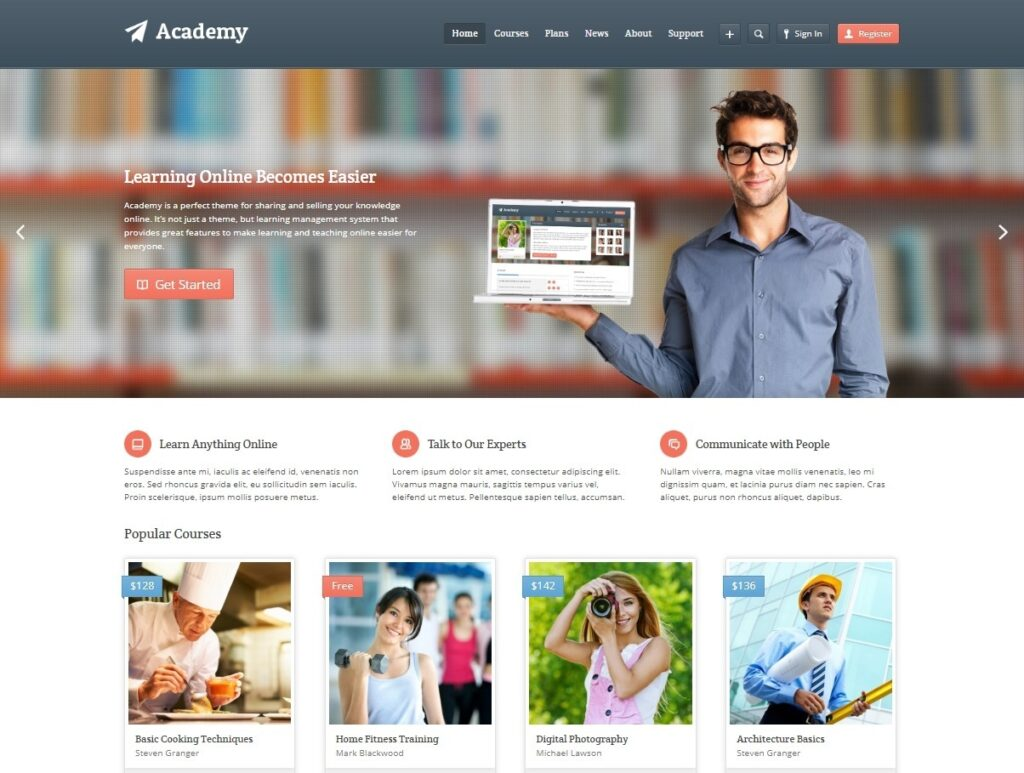 Academy Online Education and Learning Management Theme