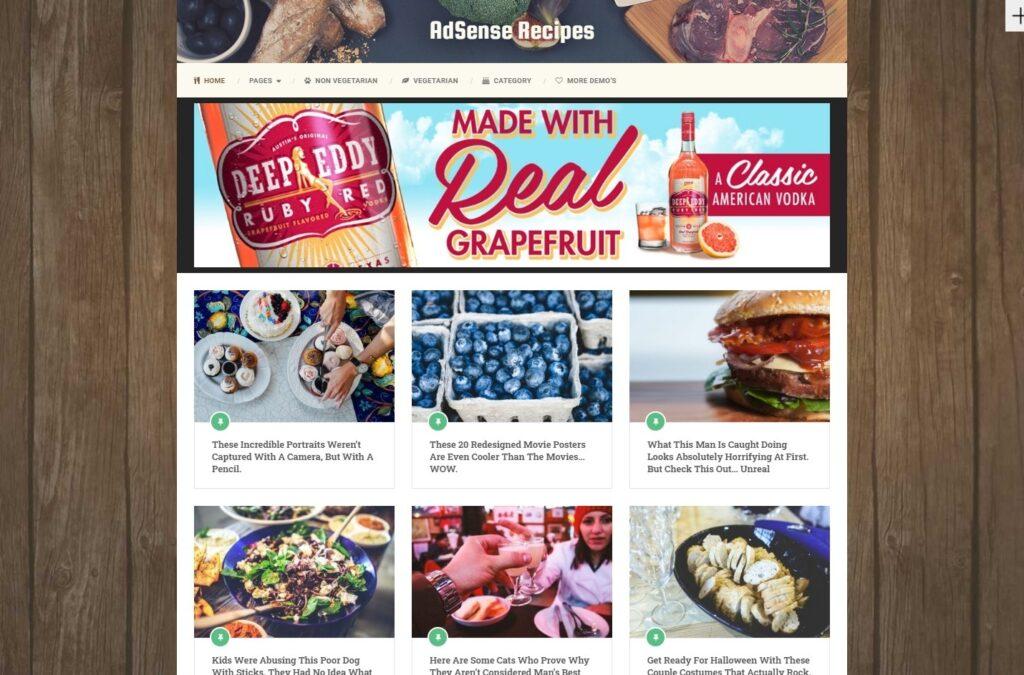 Ad Sense Recipe Blog and Food Blog Theme