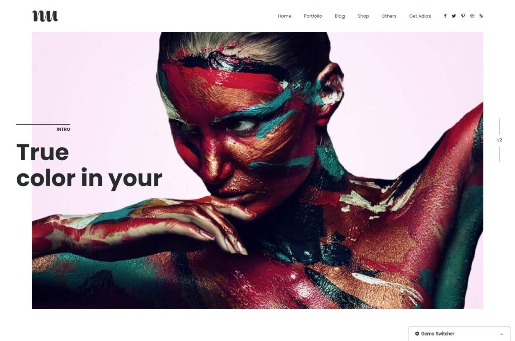 Adios Clean Flat Portfolio Theme with Lots of White Space