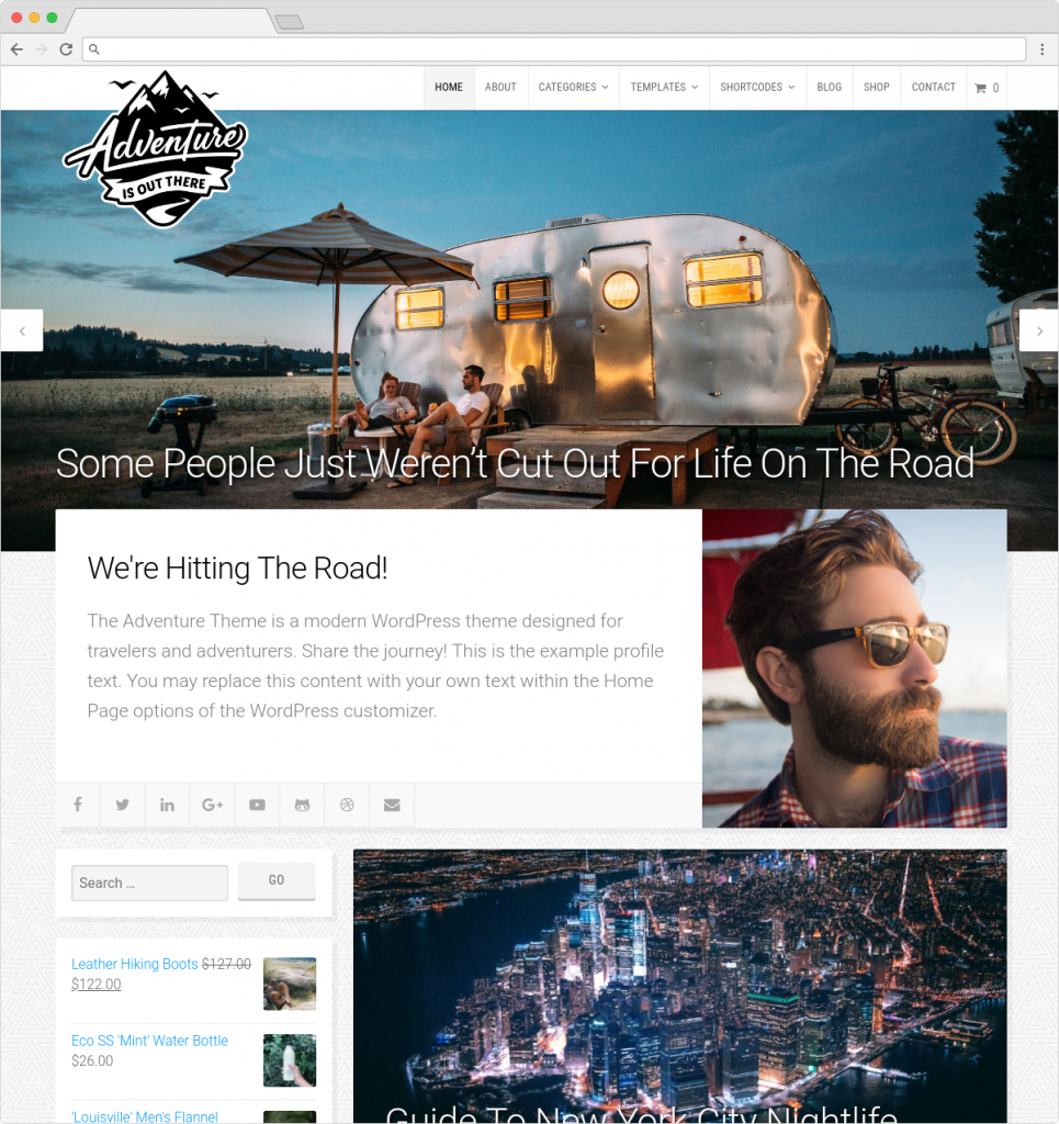 Adventure Theme Personal Blogging Reviews Theme