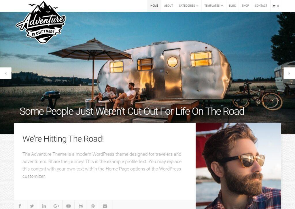 Adventure Video Blog WordPress Theme