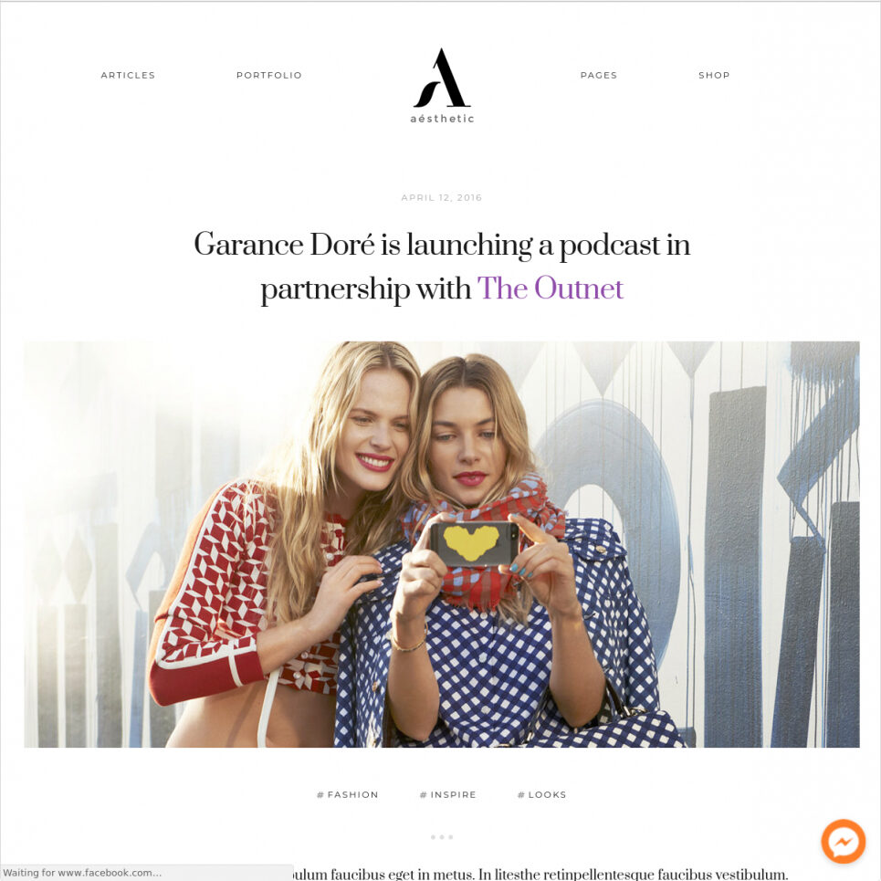 Aesthetic WordPress Theme For Magazines And Journals