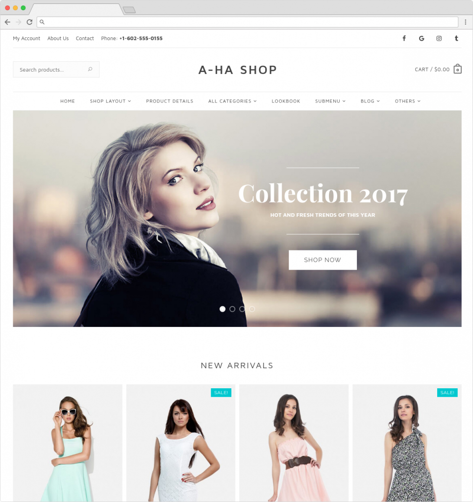 Aha Shop WordPress Fashion Store ECommerce Theme