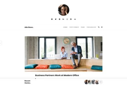Alia Minimalist WordPress Personal Blogging Theme