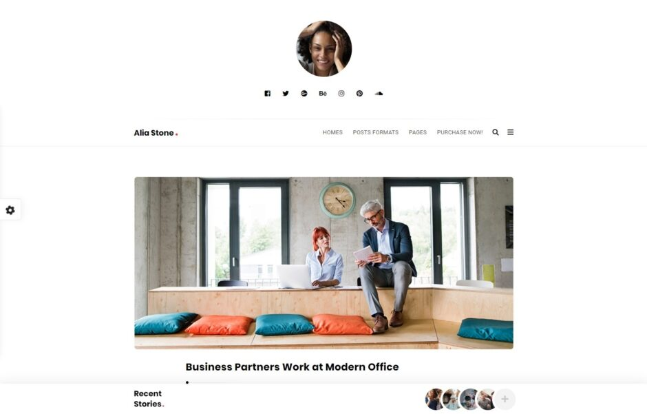 Alia Minimalist WordPress Personal Blogging Theme