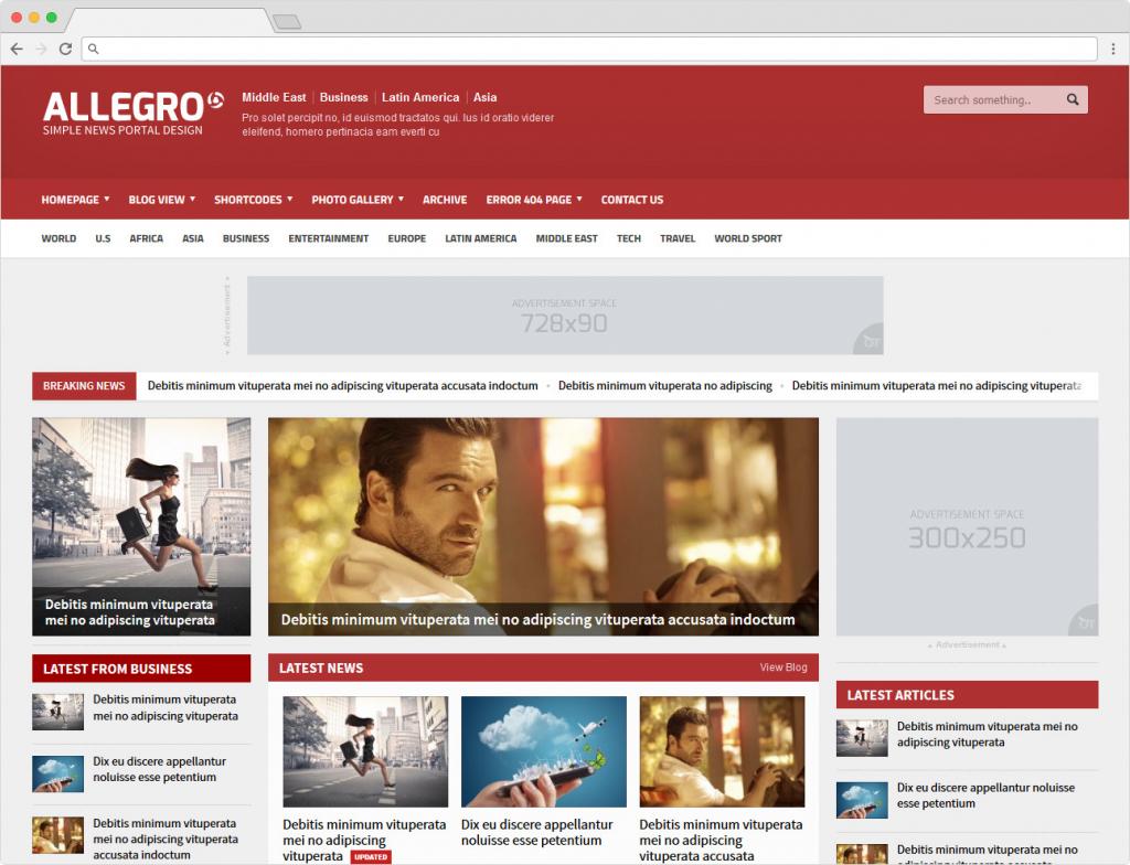 Allegro WordPress News Magazine Theme For Reviews