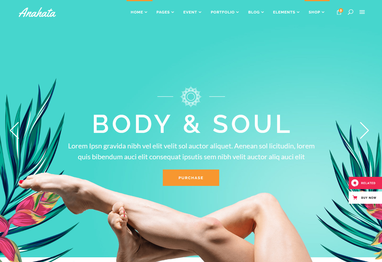 Anahata WordPress Yoga Studio and Blog Theme