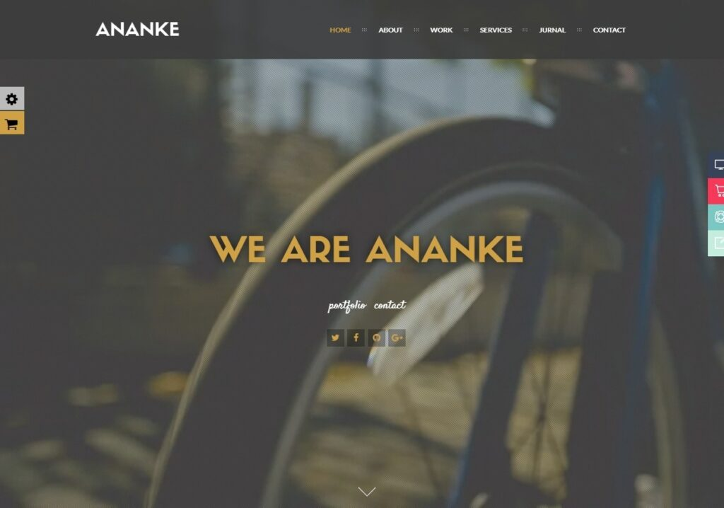 Ananke One Page Parallax Theme with Video Background