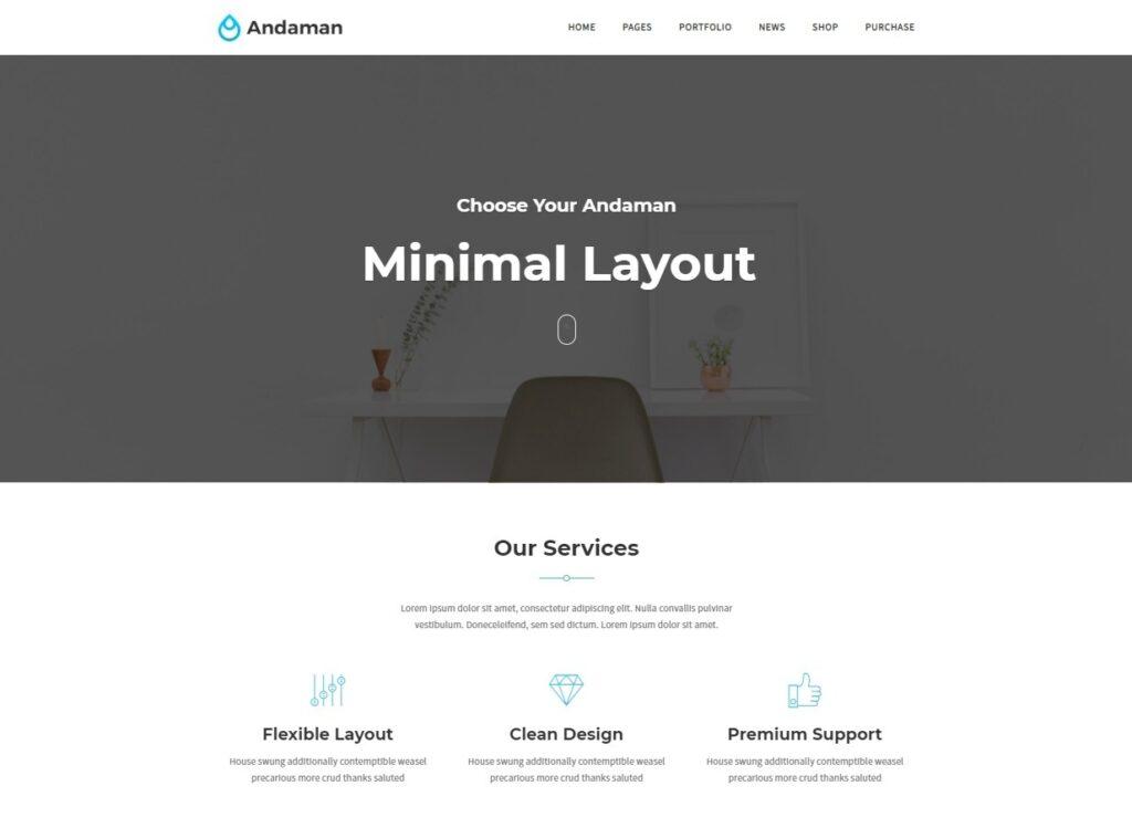 Andaman WordPress Minimalist Business Theme