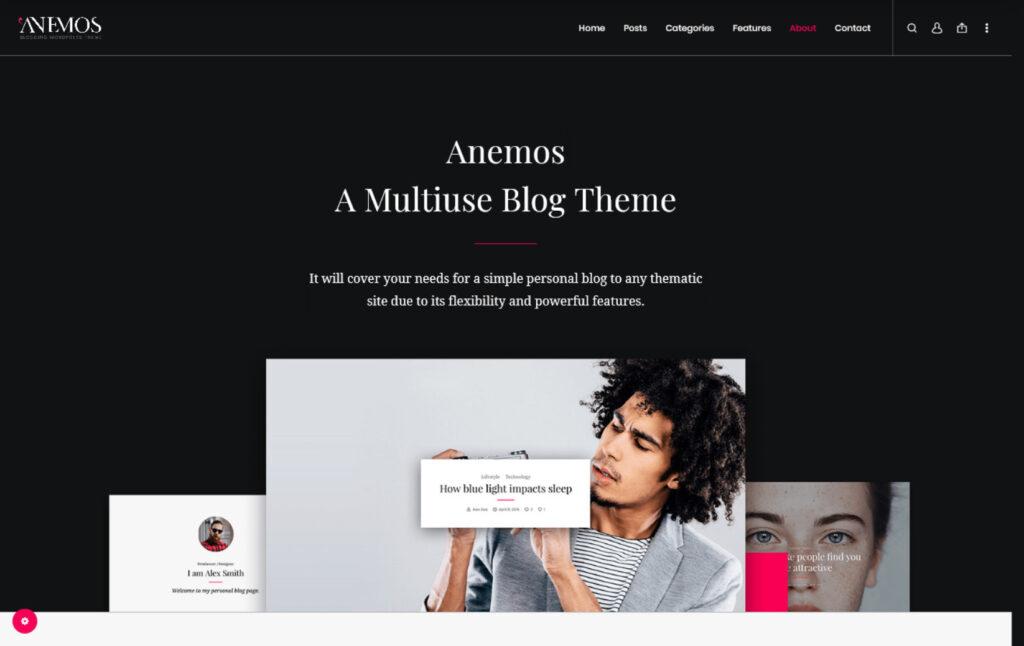 Anemos A Multiuse Blogging WordPress Theme