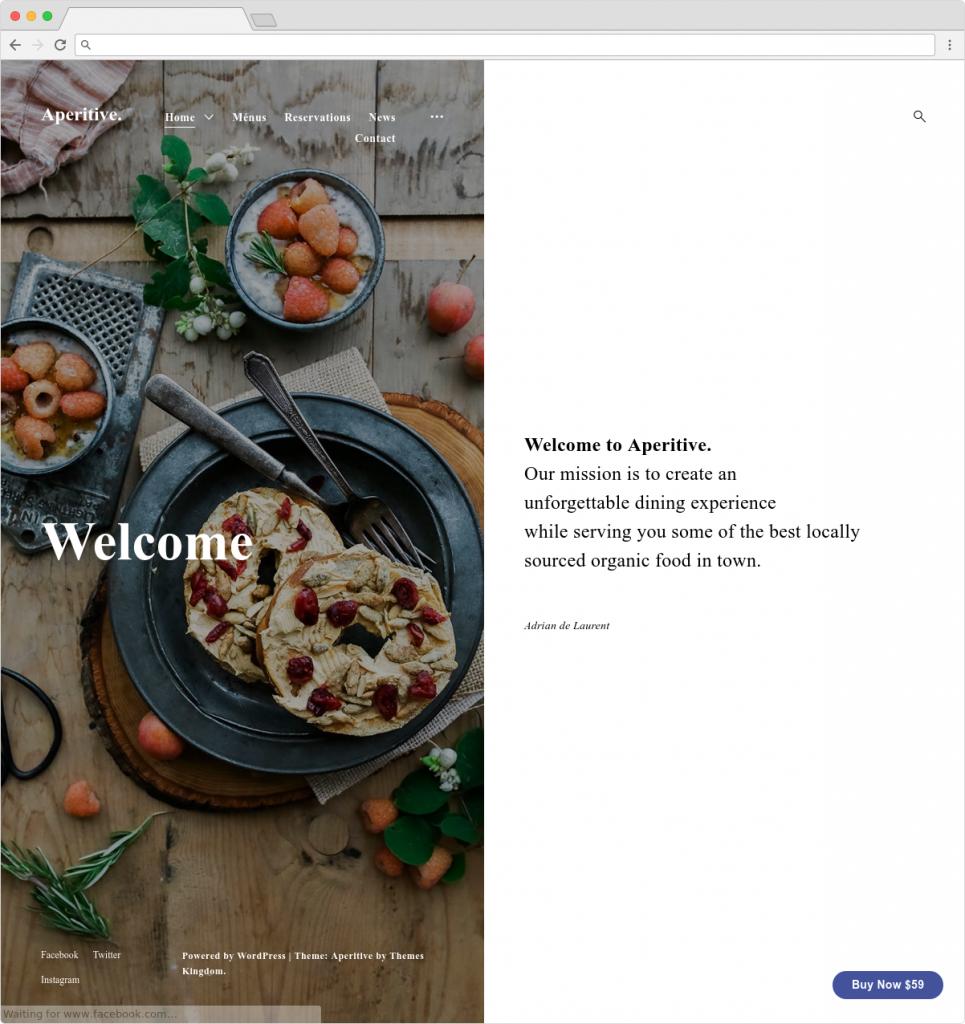 Aperitive Clean Split ScreenMinimal Blog Theme