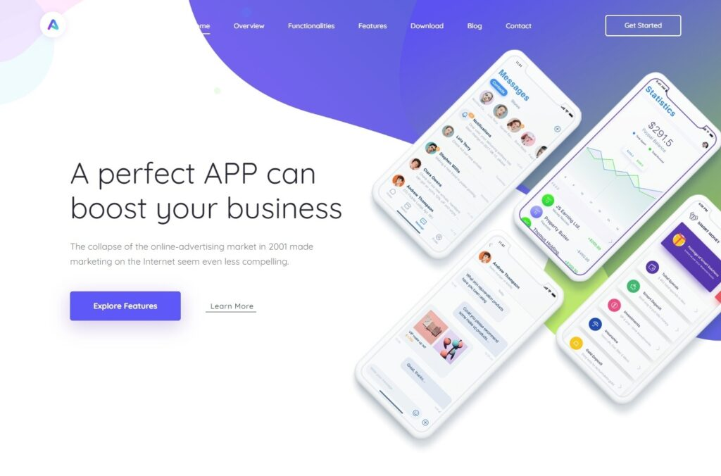 AppLand WordPress Theme For App and SaaS Products